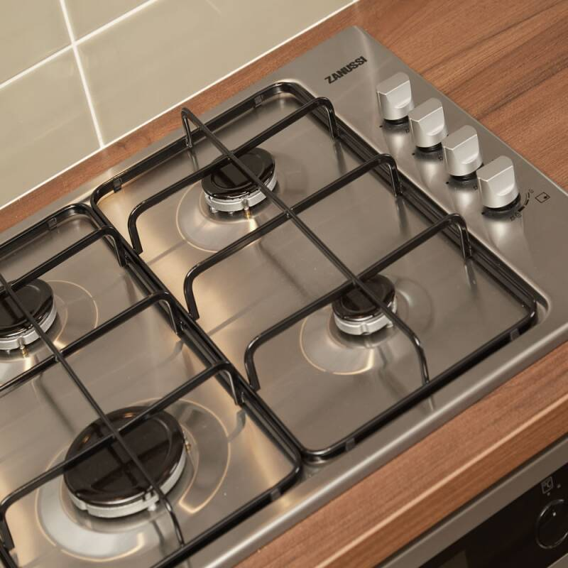 Zanussi H30xW580xD500 Gas 4 Burner Hob - Stainless Steel additional image 1
