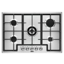 Zanussi H44xW744xD510 5 Burner Gas Hob - Stainless Steel