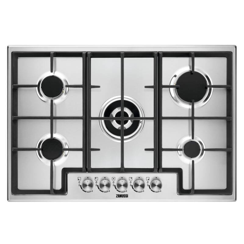 Zanussi H44xW744xD510 5 Burner Gas Hob - Stainless Steel primary image