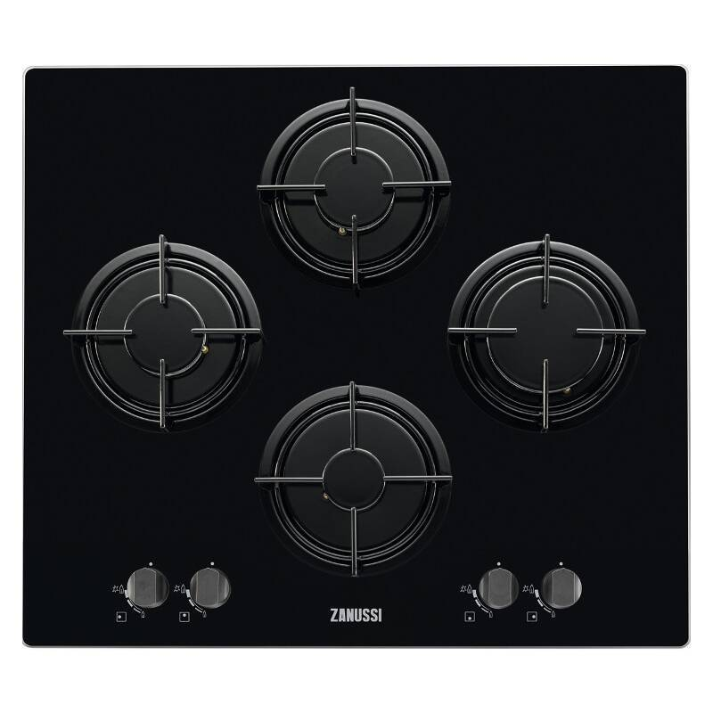 Zanussi H47xW595xD520 Gas On Glass 4 Burner Hob - Black primary image