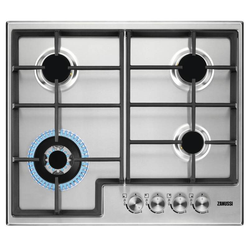 Zanussi H48xW595xD510 4 Burner Gas Hob - Stainless Steel primary image