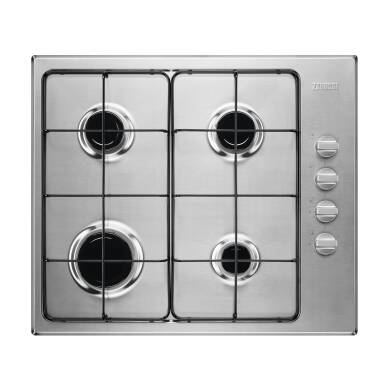 Zanussi H51xW580xD500 4 Burner Gas Hob - Stainless Steel