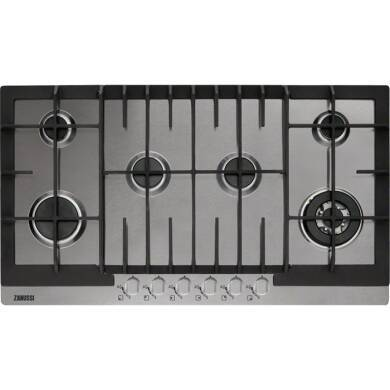 Zanussi H55xW894xD510 6 Burner Gas Hob - Stainless Steel