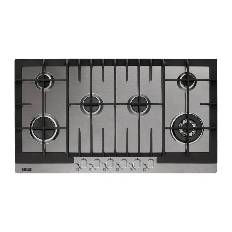 Zanussi H55xW894xD510 6 Burner Gas Hob - Stainless Steel primary image