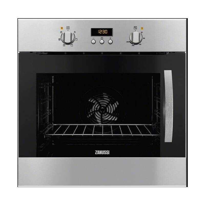 Zanussi H589xW594xD568 Single Electric Oven - Stainless Steel (LH Hinge) primary image