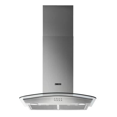 Zanussi H605xW600xD500 Chimney Cooker Hood and Curved Glass