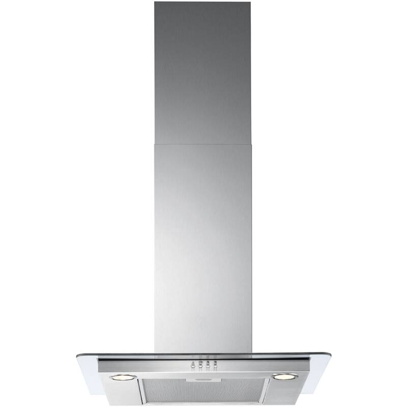 Zanussi H639xW598xD450 Flat Glass Chimney Cooker Hood - Stainless Steel primary image