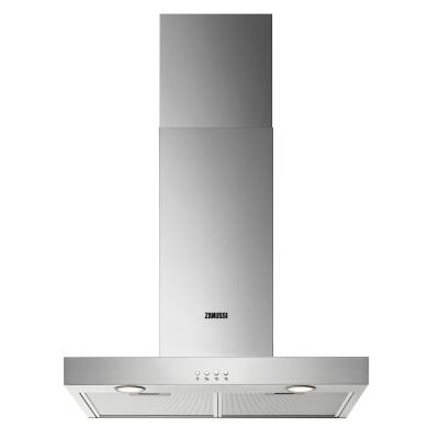 Zanussi H678xW598xD450 Chimney Cooker Hood - Stainless Steel