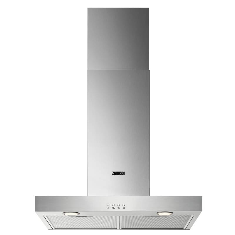 Zanussi H678xW598xD450 Chimney Cooker Hood - Stainless Steel primary image