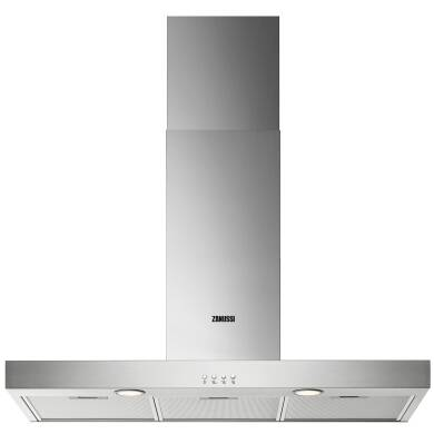 Zanussi H678xW898xD450 Chimney Cooker Hood - Stainless Steel