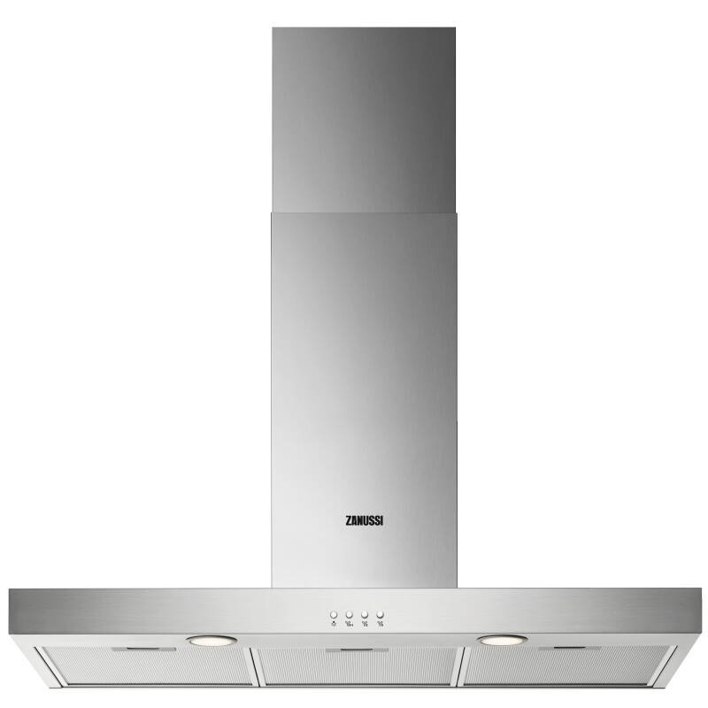 Zanussi H678xW898xD450 Chimney Cooker Hood - Stainless Steel primary image