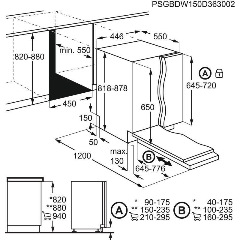 Zanussi H818xW446xD550 Fully Integrated Slimline Dishwasher additional image 1