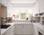 All-White Sophisticated Kitchen