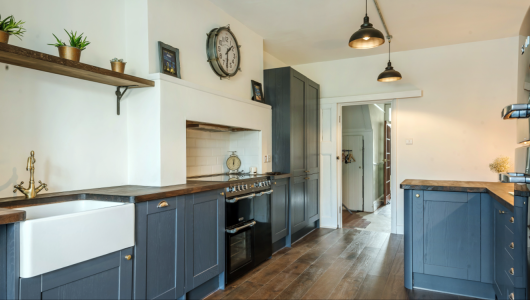 Characterful galley kitchen