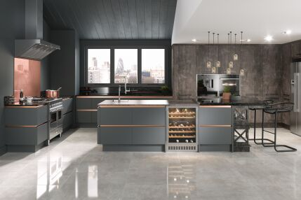 Wood And Copper Kitchen