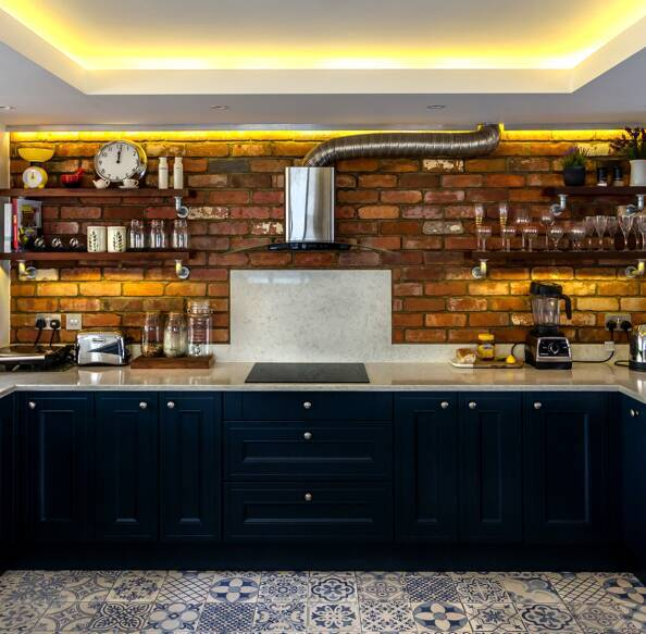 Tiny Kitchen Real Food: Handleless Kitchen In Pebble