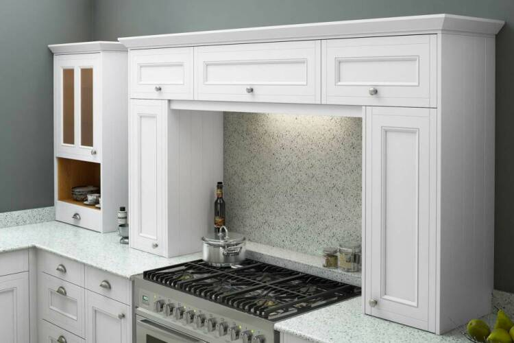 Integrated appliances in older kitchens