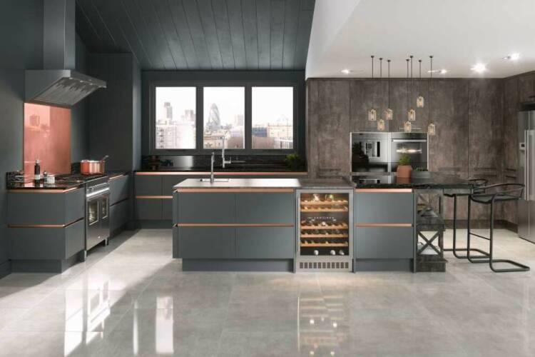 Flooring for dark cabinets