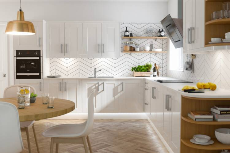 Designing an L-shaped kitchen