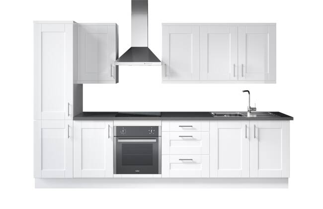 Wren Kitchens Infinity Shaker White Matt vs. Howdens Chelford White/Paintable Matt*