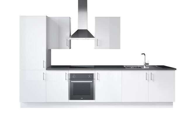 Wren Kitchens Infinity Plus Ultra Bianco Satin vs. John Lewis Lucia Matt Designer*