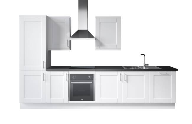 Wren Kitchens Infinity Plus Shaker Painted White vs. John Lewis Leckford Painted White*