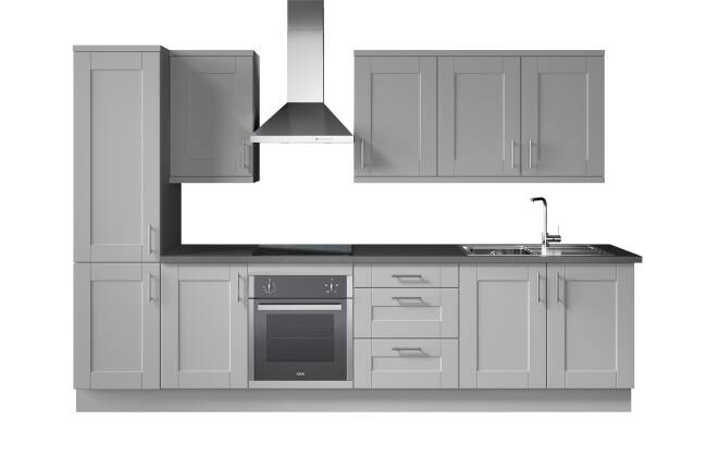 Wren Kitchens Infinity Plus Shaker Ermine 22mm vs. Magnet Dunham*