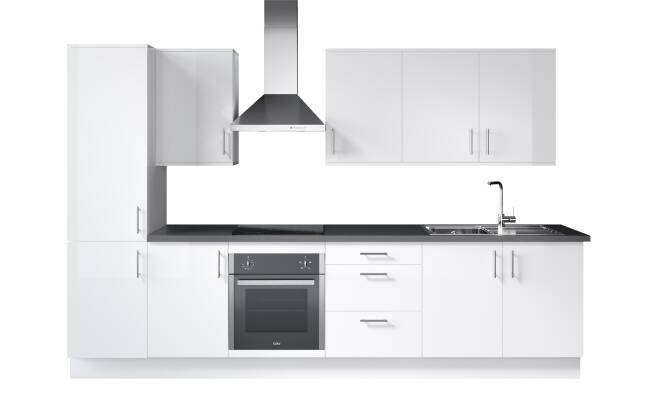 Wren Kitchens Infinity Plus Ultra Bianco Gloss vs. Magnet Fusion White*