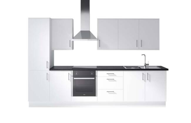 Wren Kitchens Infinity Autograph White Gloss vs. Magnet Nova White*