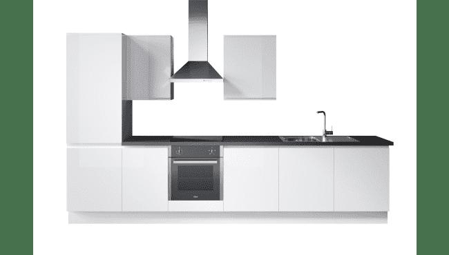 Wren Kitchens Infinity Plus Handleless White Gloss vs. John Lewis Savina Gloss Painted White