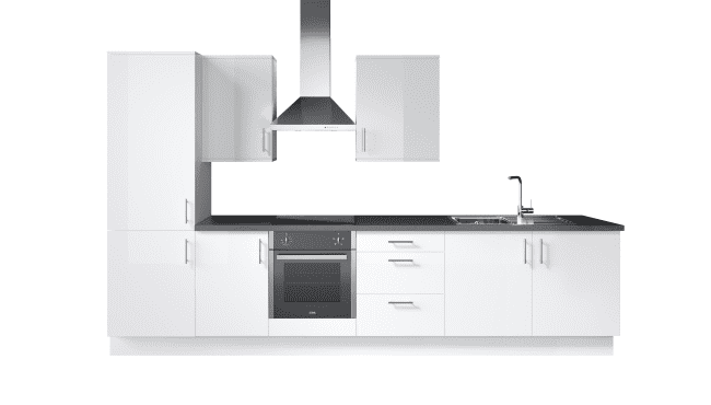 Wren Kitchens Infinity Plus Ultra Bianco Satin vs. John Lewis Lucia Matt Designer