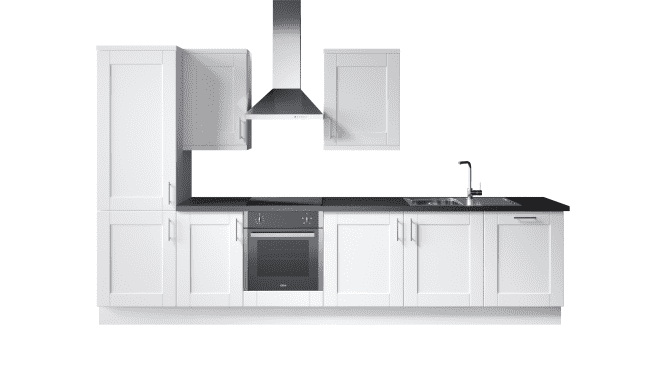 Wren Kitchens Infinity Plus Shaker Painted White vs. John Lewis Leckford Painted White