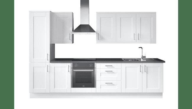 Wren Kitchens Infinity Shaker White Gloss vs. Magnet Leighton White