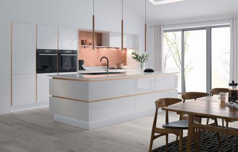 Sleek and sophisticated: high-gloss kitchen design