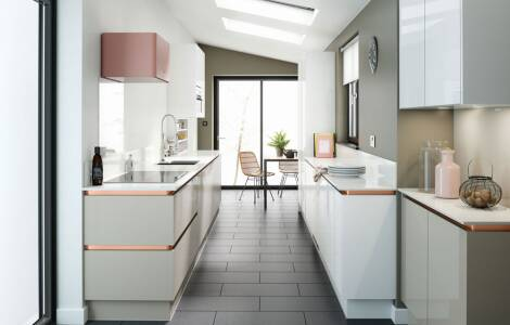 How to design and long and narrow gallery kitchen