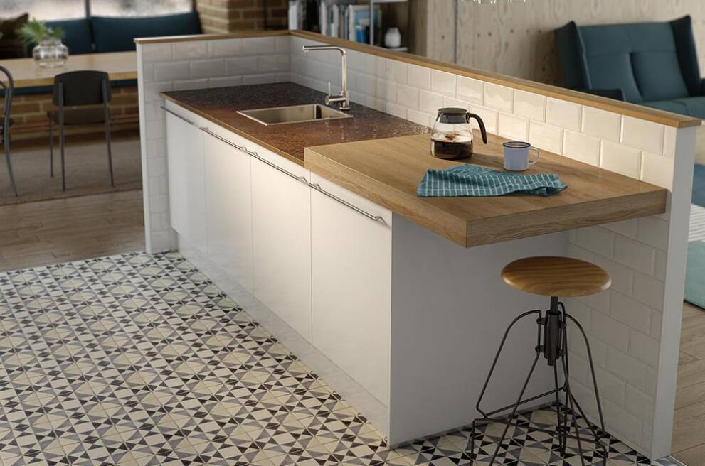 Original worktop surface storage