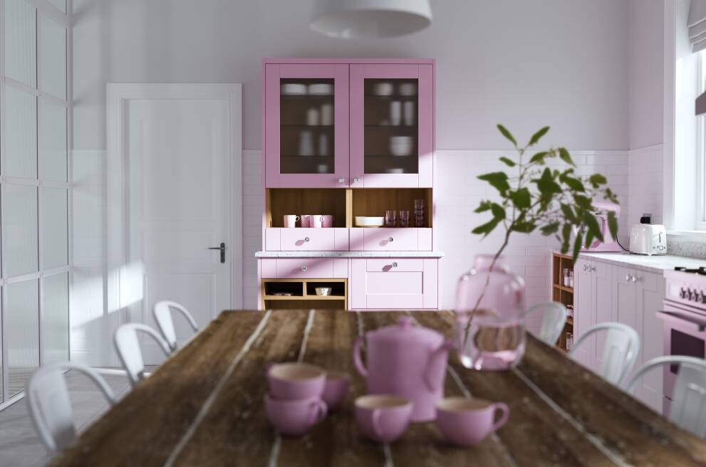 Statement colour cabinets