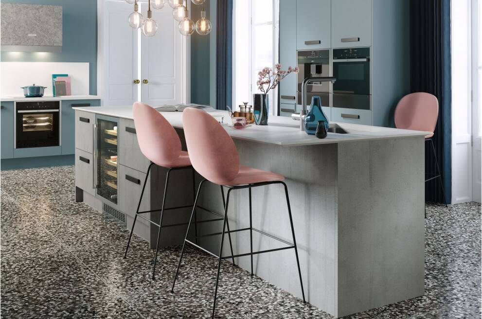 Colour blocking with appliances and furniture