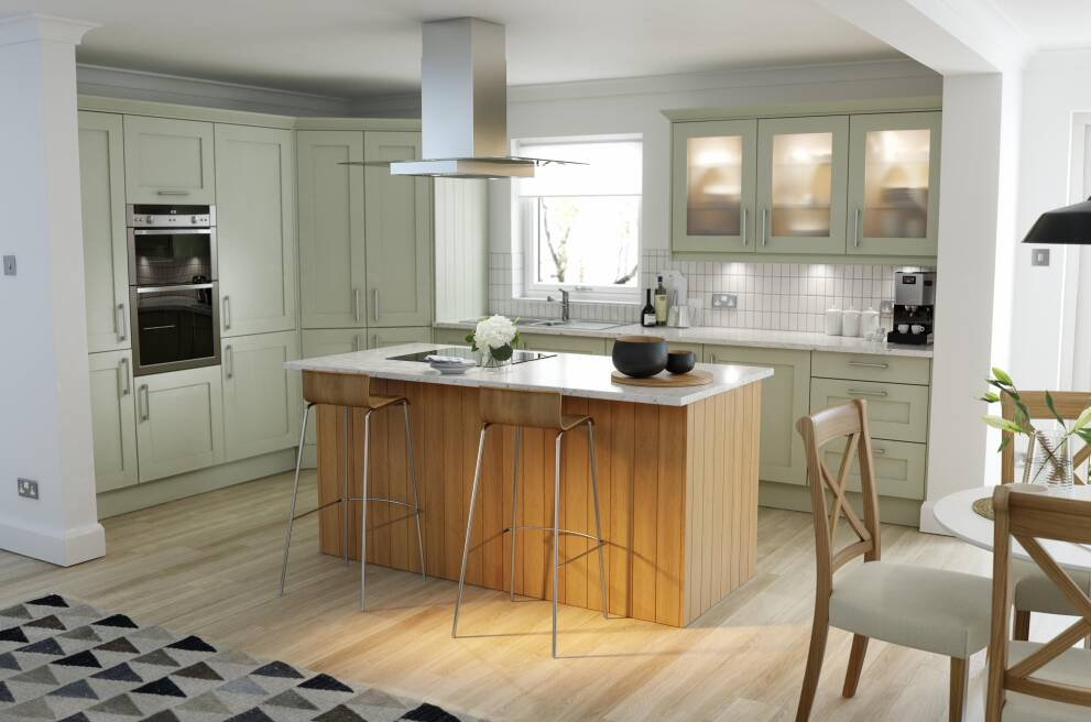 How To Design A Sage Green Kitchen Wren Kitchens