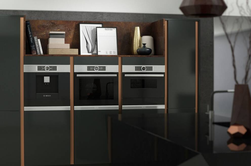 Choose integrated appliances for a clutter-free space