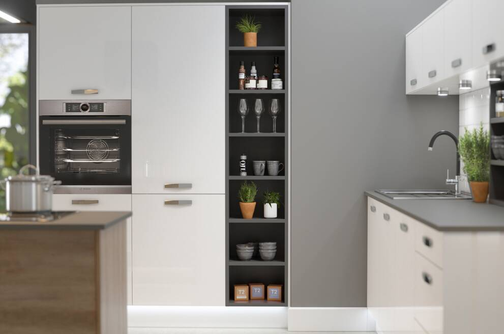 Tower unit storage: Drawers or shelves?