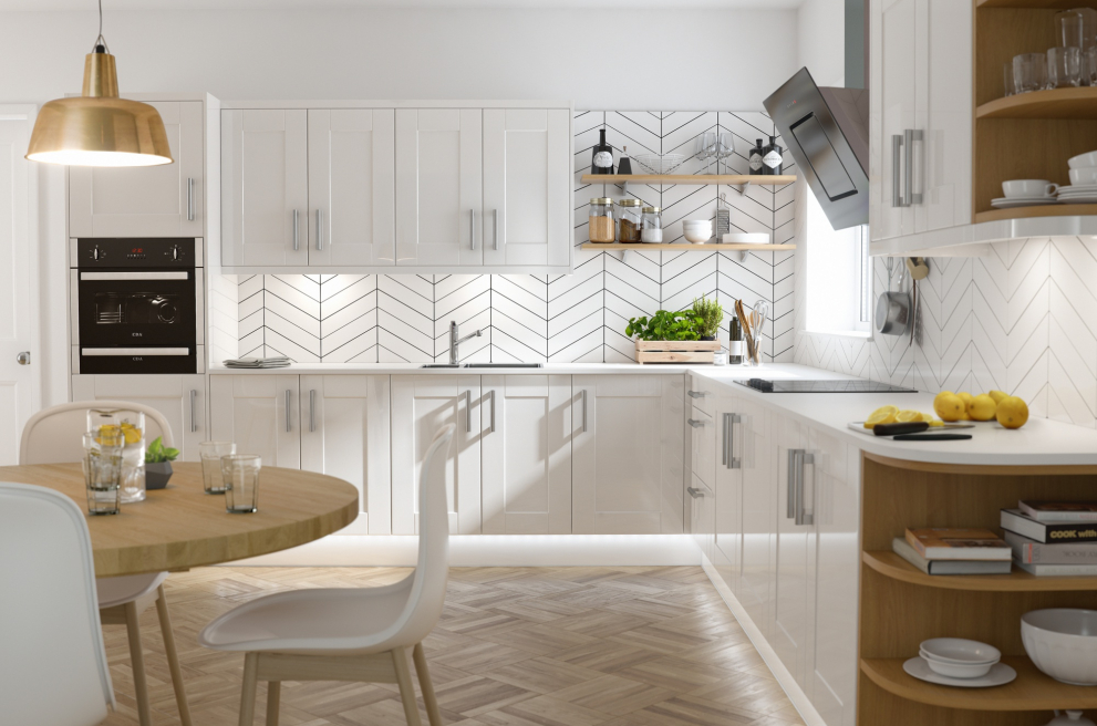 What is an L-shaped kitchen?