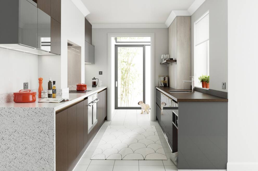 How To Design A Long And Narrow Galley Kitchen Wren Kitchens
