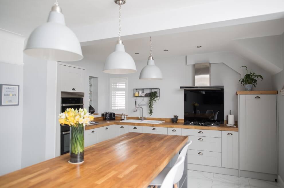 Consider a kitchen peninsula