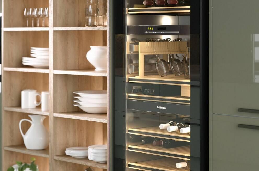 Shelf art: Wine on display