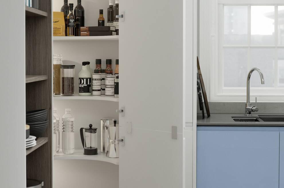 A pantry or larder