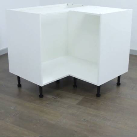 972mm 2 Door L Corner Carousel Base Unit