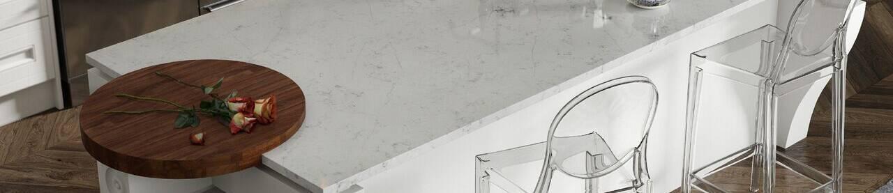 Monochrome tile for kitchens