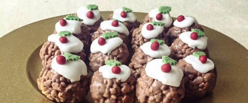 Rice Krispie Christmas Puddings