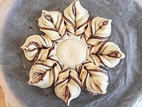 Nutella Pastry Snowflake